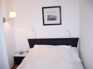 Jedes Appartement verfügt über ein großes, individuell einstellbares Bett