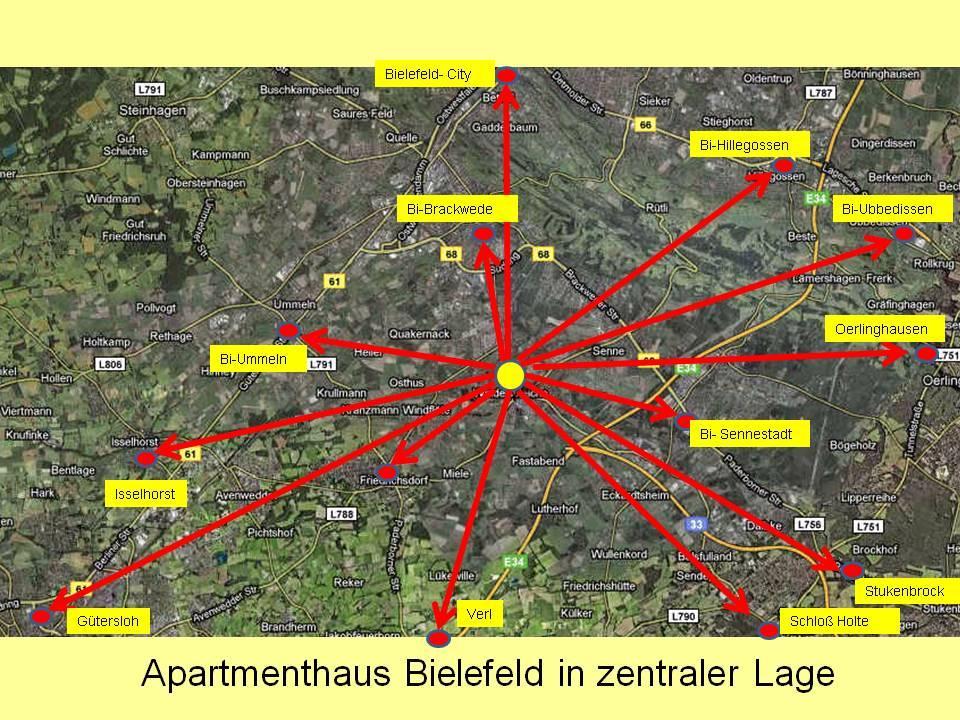 FeWo in Bielefeld in verkehrsgünstiger Lage.