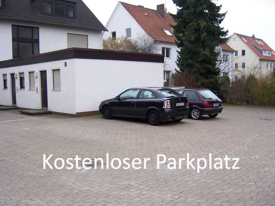 Parkplatz direkt am Apartment