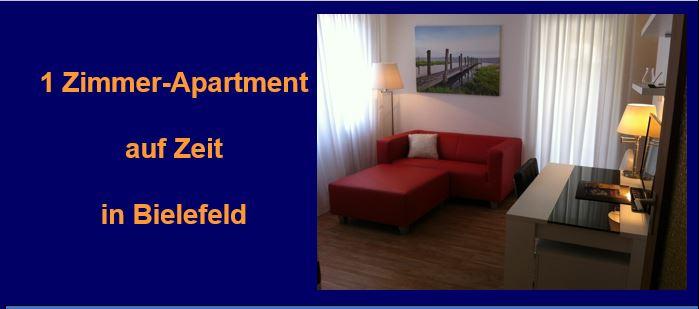 1-Raum-Apartment, komplett möbliert, in Bielefeld auf Zeit